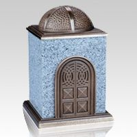 The Bronze & Granite White Cremation Urn is made of natural quarried sierra white granite etched to perfection. Bronze and marble are one of the most elegant design variations in today's modern world available. This urn symbolizes pure and honest peace.
