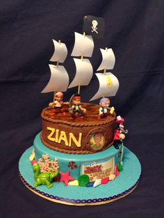 Jake and The Neverland Pirates cake I'm making for my nephews birthday. At his request!