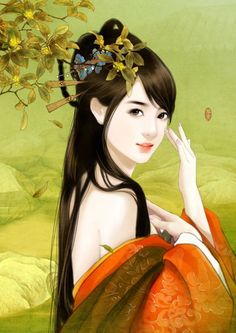 @PinFantasy - Chinese Art - Green & Orange