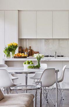 White and bright kitchen.