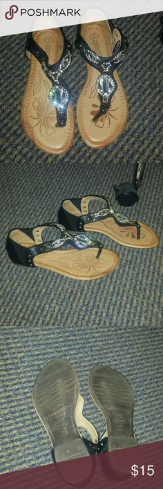 Cute Dressy Sandals Sandals perfect for any occasion ..  Like NEW condition used once!!! Shoes Sandals