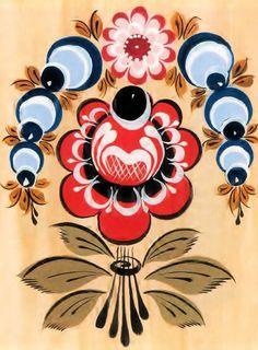 Russian Folk Art, Ukrainian Art, Folk Art Flowers, Flower Art, Rosemaling Pattern, Gravure Illustration, Casual Art, Polish Folk Art, Russian Painting