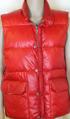 Puffer Down Vest Red Vtg Snow Lion Adult Mens Large Retro Skiing Boarding Retro #Snowlion #Party