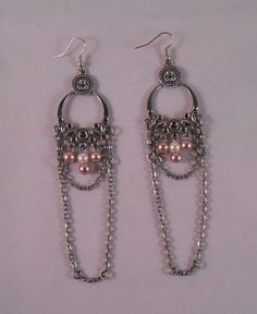 Metal and Glass Bead Chain Drops