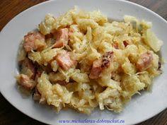 Halušky - jídlo které se mi snad nikdy nepřejí. Když nemám čas, udělám jenomobyčejné - na Slovensku se jim říká přílohové, z mouky. Po...