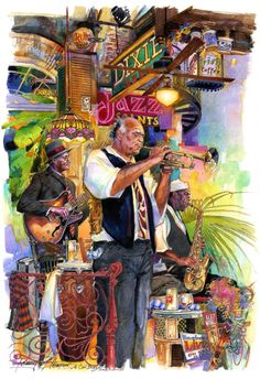 A Cool Breeze by Tommy G. Thompson ~ jazz musicians New Orleans