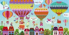 Hot air balloons artist Illustration by www.MilaMarquis.com and www.Facebook.com/MilaMarquisillustration