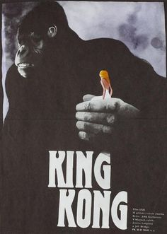 King Kong 1989 original Czech film movie poster - Orson & Welles Polish Movie Posters, Horror Movie Posters, Film Posters, Cinema Film, Film Movie, King Kong 1, Jungle Love, Campaign Posters, Vintage Horror