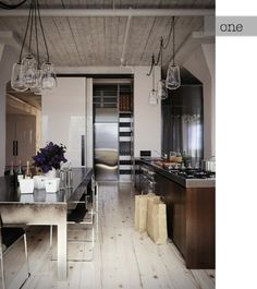 kitchen space with industrial style