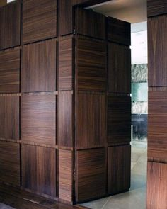 Hidden door is an amenity that makes a house more fun. There are many ways to create such door. Here, we listed hidden door ideas to help you do. Wooden Door Design, Wooden Doors, Wooden Windows, Wooden Partition Design, Modern Wood Doors, Slab Doors, Architecture Bauhaus, Stairs Architecture, Interior Architecture