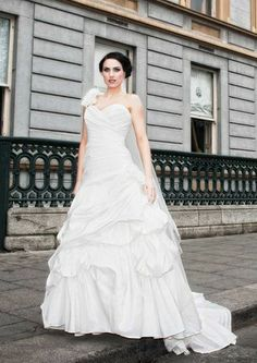 City gal in a wedding dress from Belleza Bridal Traditional Wedding Dresses, One Shoulder Wedding Dress, Bridal, City, Fashion, Moda, Fashion Styles, Cities, Fashion Illustrations