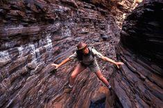 Journey to the centre of the earth. Hancock Gorge, Karijini National Park, Western Australia. Photo: Alamy