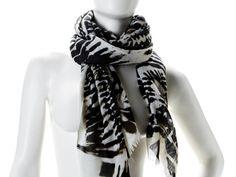 Zebra Tie-Dye Scarf by Twelfth Street by Cynthia Vincent from Monet Mazur on OpenSky