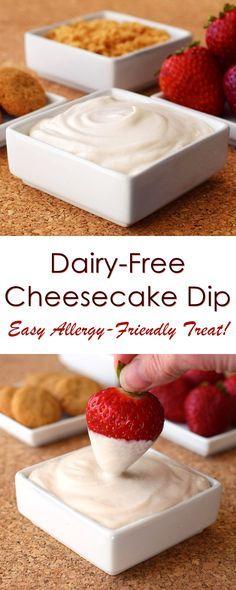 Dairy-Free Cheesecake Dip Recipe - a 10 minute treat! (vegan, gluten-free and top allergen-free)