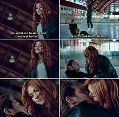 Meanwhile, Magnus succumbs to asking Lorenzo for a favor and Jace takes Clary on a special date. Jace And Clary Kiss, Shadowhunters Clary And Jace, Clary Und Jace, Shadowhunters Season 3, Shadowhunters The Mortal Instruments, Clary Fray, The Hundred Book, Matthew Daddario, Clace