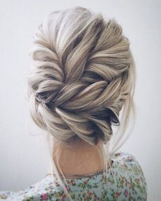 updo braid | long hairstyle | easy | platinum blonde