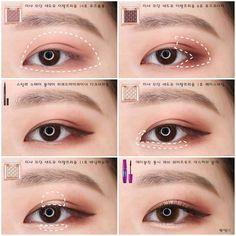 makeup Asian cute - Makeup tutorial asian eyes make up 69 ideas Korean Makeup Look, Korean Makeup Tips, Asian Eye Makeup, Korean Makeup Tutorials, Eye Makeup Tips, Eyeshadow Makeup, Beauty Makeup, Makeup Ideas, Korean Eyeshadow