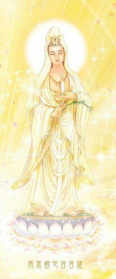 Kuan Yin - From pathways so bright ~ From starlight so bright ~ Flows heavenly light ~ And Mercy unending.