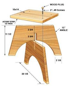 woodwork chair plans | Wooden Footstool Plans