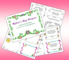 Classroom Freebie's   Mother's Day Coupons