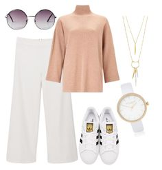 """Untitled #27"" by klaudialeszczynska on Polyvore featuring MANGO, EAST, adidas Originals, Monki, River Island and Stella & Dot"