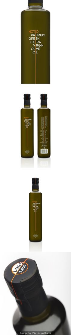 Premium Extra Virgin Olive Oil Notio Premium Extra Virgin Olive Oil designed by Yiorgos Yiacos (of The Comeback Studio) Olive Oil Packaging, Cool Packaging, Bottle Packaging, Brand Packaging, Design Packaging, Packaging Ideas, Olives, Olive Oil Bottles, Packaging Design Inspiration