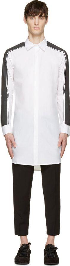 D.Gnak by Kang.D White Reflective Stripe Shirt