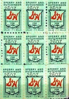 loved collecting green stamps and redeeming them too