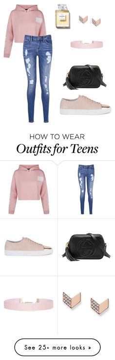 """""""Nice soul"""" by nur-aysha-natalie on Polyvore featuring Gucci, Axel Arigato, Humble Chic, FOSSIL, New Look and Tommy Hilfiger"""