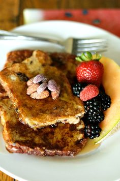 Easy French Toast with Almonds | ReluctantEntertainer.com