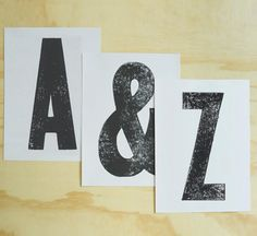 Choose your letters / Set of 3 prints