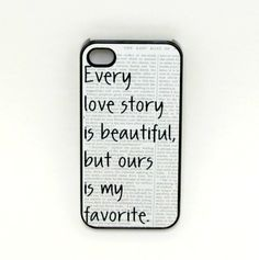 Iphone 4 Case  Our Story Iphone Case iphone 4s - I already love this quote so this case is just beautiful :) lol