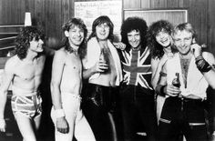 Brian May after performing with Def Leppard, Los Angeles, 1983