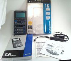 Texas-Instruments-TI-82-Graphing-Calculator-Guidebook-Link-Cable-CD-Complete