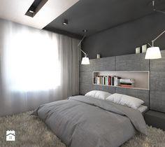 (Będzin) Projekt domu jednorodzinnego 4 - Średnia sypialnia małżeńska, styl nowoczesny - zdjęcie od BAGUA Pracownia Architektury Wnętrz
