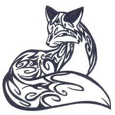 Simple Tribal Fox Tattoo Tattoo - curly fox by fluna Tribal Fox, Tribal Animals, Arte Tribal, Fox Animal, Fox Tattoo Design, Tribal Tattoo Designs, Geometric Tattoos, Tribal Drawings, Fuchs Tattoo