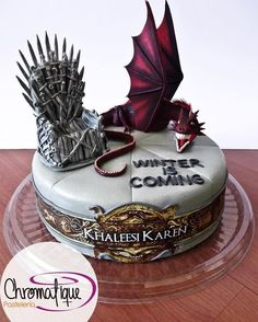 Best 20 Game Of Thrones Birthday Cake .Commemorate a winter season birthday with this warm spiced cake, loaded with nutmeg, cinnamon, and clove. A birthday party simply isn't finish up … Game Of Thrones Torte, Game Of Thrones Bar, Game Of Thrones Birthday Cake, Game Of Thrones Dragons, Gravity Cake, Geode Cake, Bolo Cake, Dragon Cakes, Cake Games