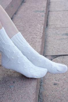 Hand knit Socks white alpaca wool by SockClub on Etsy, $40.00