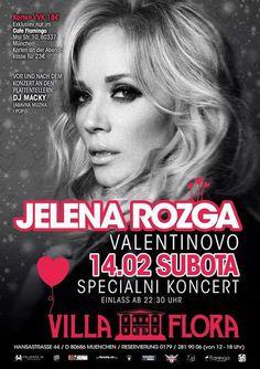 Jelena Rozga in München Deutschland am 14.02.2015 (Balkanevent zum Valentinstag).