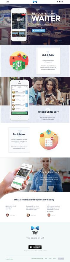 Unique Web Design, Jeff via @ericpsalama #WebDesign #App #Design
