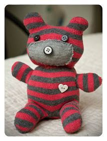 Hi! I came across a cute tutorial last week on how to make a sock teddy bear . He looked so fun and easy, I thought I'd give one a shot. I ...