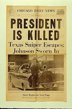Kennedy Assassination I was teaching a high school geography class when this happened.  Horrible!
