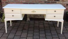 SHABBY CHIC NARROW STAG HALL CONSOLE TABLE WOODEN DRESSING TABLE COMPUTER DESK