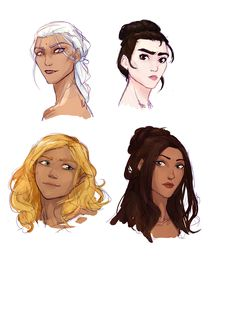 Manon, Elide, Aelin and Lysandra by eerna. Queen of Shadows. Empire of Storms. Sarah J Maas