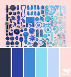 { color collect } image via: Blue Colour Palette, Color Palate, Color Azul, Colour Schemes, Color Combos, Color Patterns, Design Seeds, Renovation Design, Color Collage