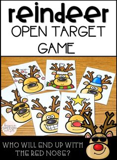 Looking for some hands-on, motivating games to get you through the busy holiday season? If so, this game is for you! Students love taking turns trying to find the red nose! This game can be paired with drill work during therapy sessions for your preschool and early elementary students.  Game play is for 2-12 players.
