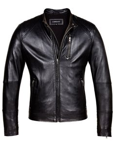 Take your casual style to the next level with this slim fit racerstyle Leather Jacket. Crafted from 100% full grain lambskin leather this Jacket features a concealedzip through frontfor a modern look andaminimalistmoto inspired quilt design on shoulders.  Additional 10% off Sale Price + 3 week Free Shipping(Limited Time Offer). Use Coupon: BIKER16 during checkout. Free shipping is for US orders only (except Alaska and Hawaii).