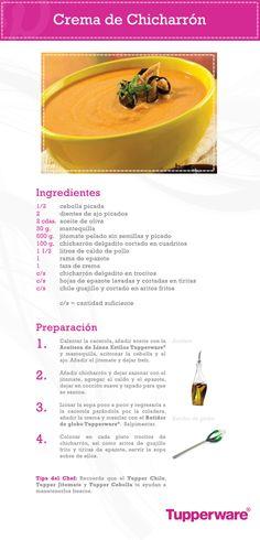 Prepara una deliciosa crema de chicharrón y sorprende a tu familia con una receta nutritiva y fácil de hacer con Tupperware.