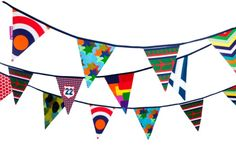 Cool Boys Bunting to leave up when the party is over / by Engel at www.theoriginalpartybagcompany.co.uk