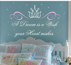 Princess Saying with Crown Wall Decal Baby by AllOnTheWallVinyl